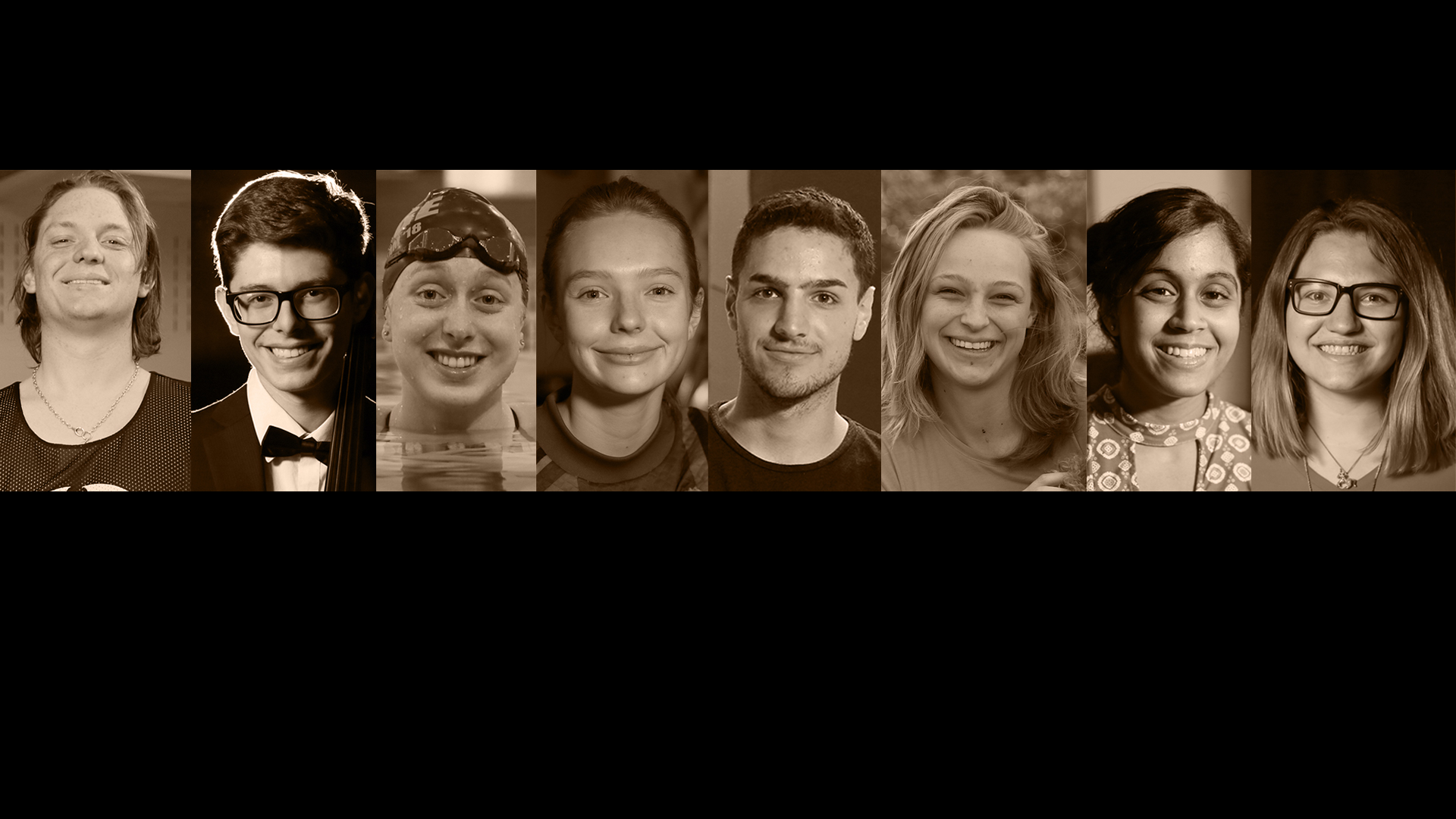Head shots of 8 graduates featured in the Grads at a Glance 2018 series