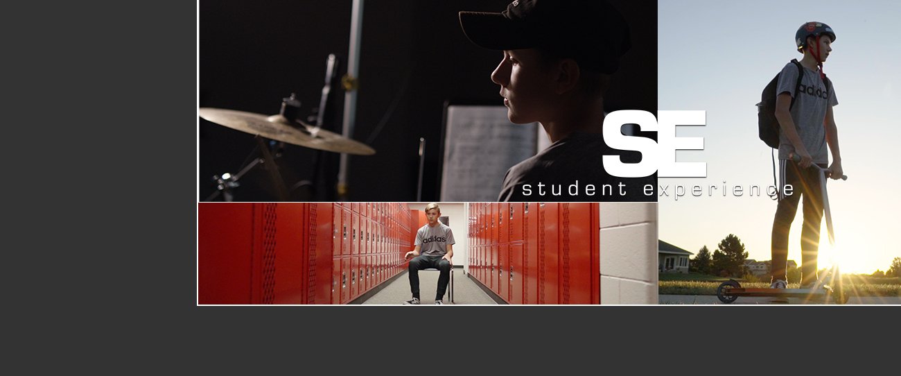 collage of photos for PSD TV's Student Experience series