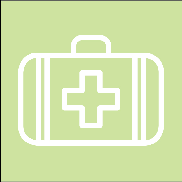 First aid kit icon representing PSD COVID-19 info.
