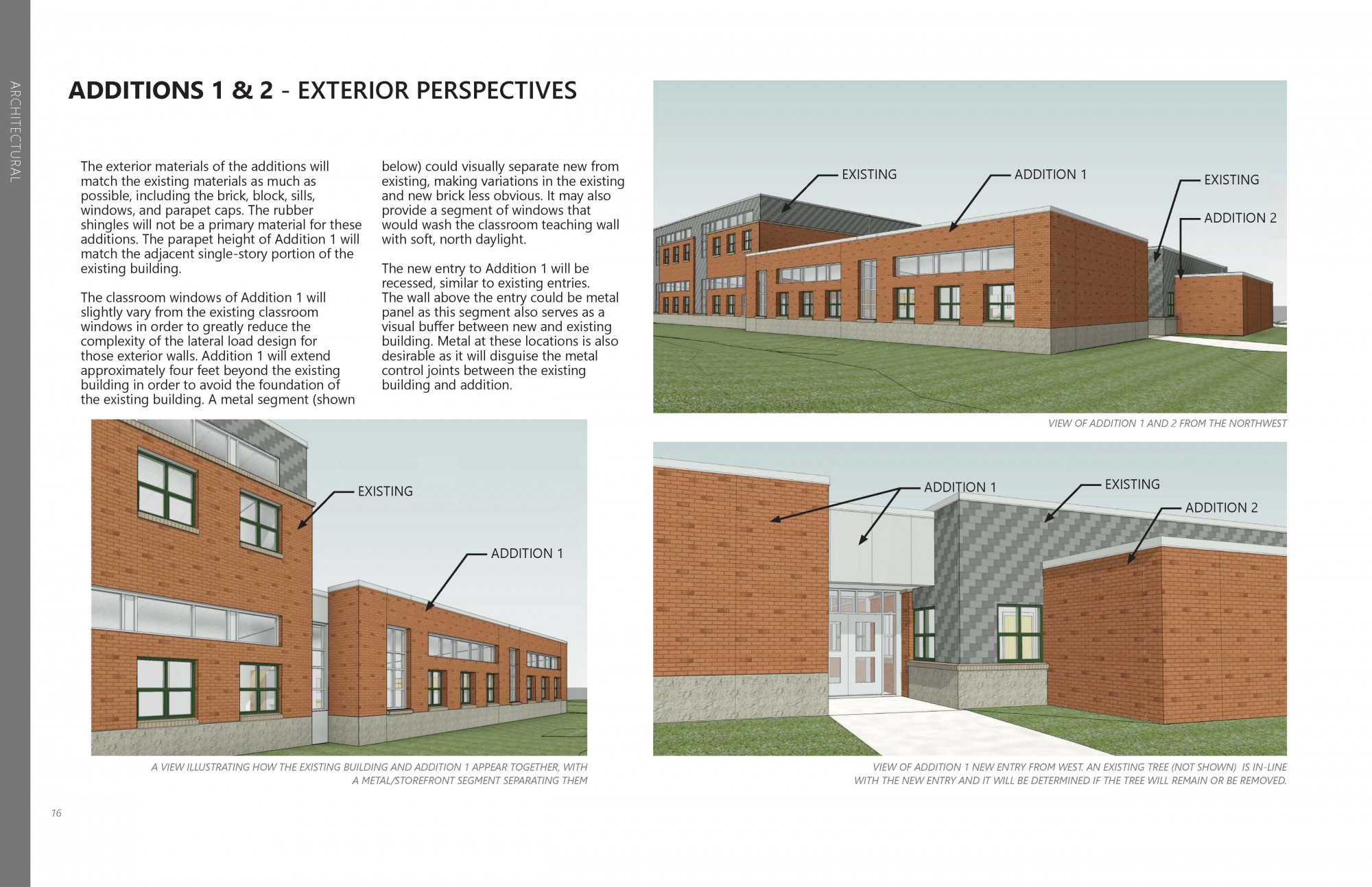 Schematic design for new addition at Zach Elementary.