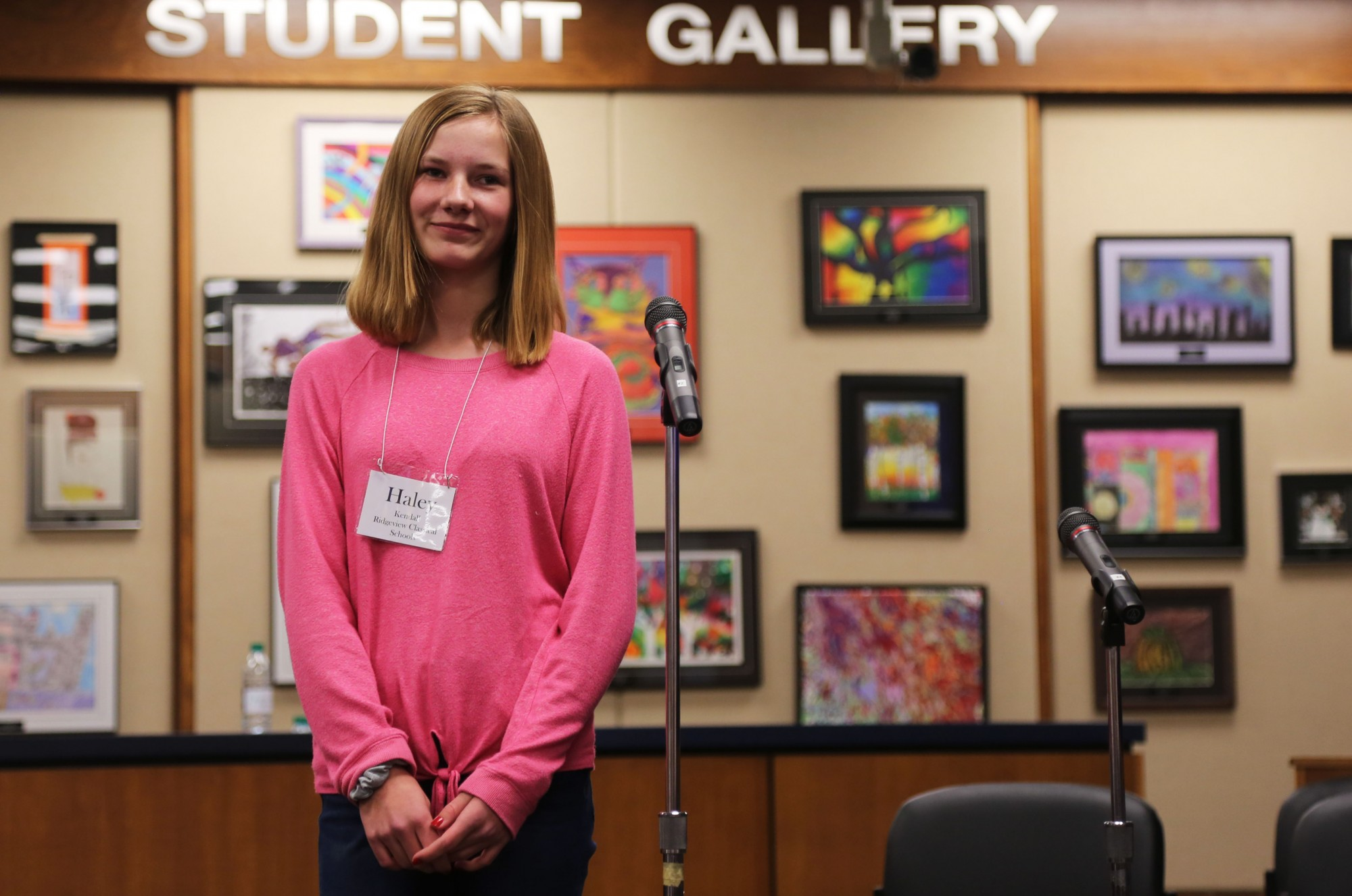Haley Kendall, Ridgeview 8th grader, 2019 PSD Spelling Bee champ
