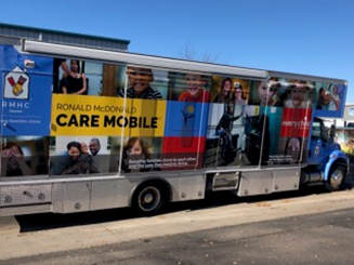 The Ronald McDonald House donated the mobile unit that houses the Telehealth Virtual Care Mobile at Lincoln.