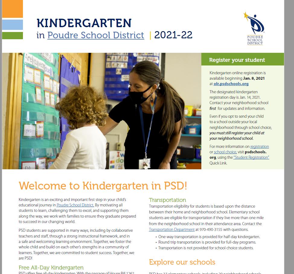 Psd School Calendar 2021 Kindergarten Registration | Poudre School District