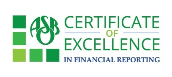 ASBO Certificate of Excellence