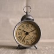 Antique alarm clock to represent new school start times.