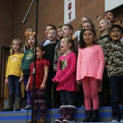 A Laurel class performs an original song they wrote together.