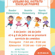 Spanish version of the flyer for PSD summer meals.