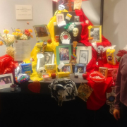 An ofrenda honoring loved ones who have died.