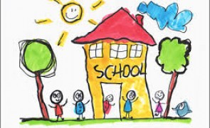 child drawing of school house image