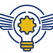 Futures Lab Logo - light bulb with wings